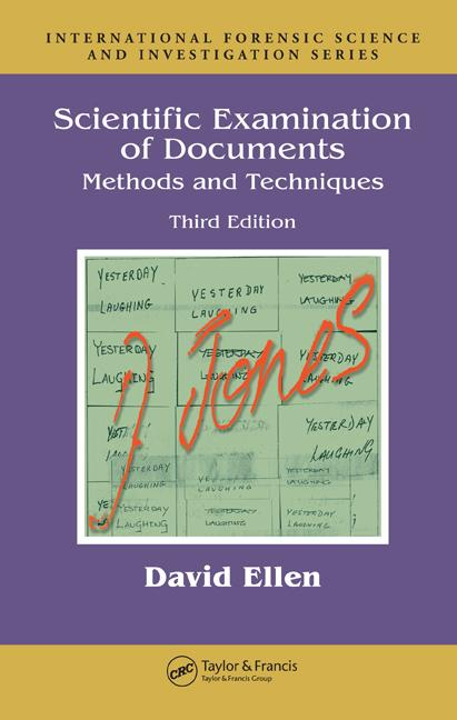 David Ellen text Scientific Examination of Documents